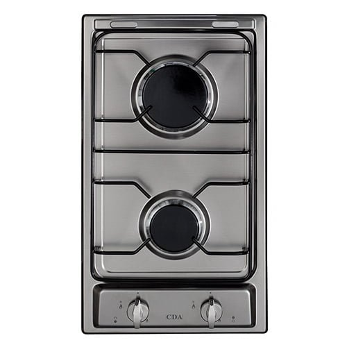 GAS HOB 30CM 2 BURNER FRONT CONTROL FLAME FAILURE S/STEEL